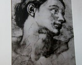 Antique Fine Art Etchings On Silk set of 15 Matted Silk Etching  by GIUSEPPE MARIO D'AMICO Italian 20th century Original Art Made in Italy