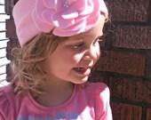Pink Flower Ear Warmer