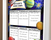 Custom Printable Boy Chore Chart Six Designs to Choose From