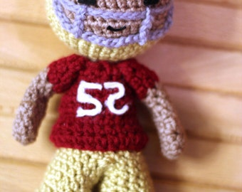Crochet Football Player Pattern
