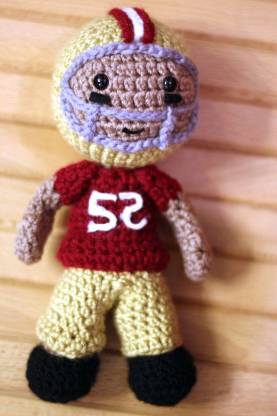 Jack Russell Amigurumi Free Pattern : Items similar to Crochet Football Player Pattern on Etsy