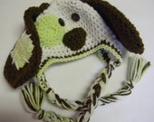 Patchy Puppy Crochet Hat - Made To Order