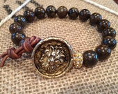 Bronzite Fancy Beaded Bracelet