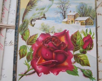 Gorgeous Edwardian Christmas Card