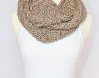 Beige/ Taupe Chunky Infinity Scarf