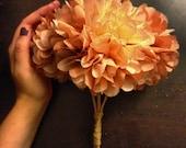 custom mini bouquet // wedding bouquet // flower girl // toss bouquet // tissue paper // paper flowers