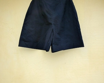 BIG SALE- Vintage High Waisted Black Shorts/ Colottes