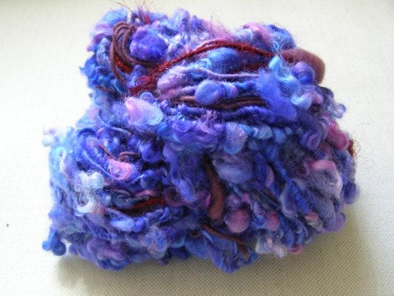Hand Dyed Corespun Wensleydale Art Yarn 48 yards 139g