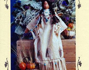 Craft Doll Pattern: Indian Maiden - 20 inch Painted and Sewn Muslin Indian Woman