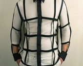 Harness Shirt with buttons in Black