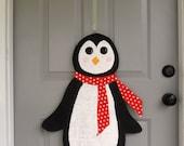 Penguin Burlap Door and Wall Hanger