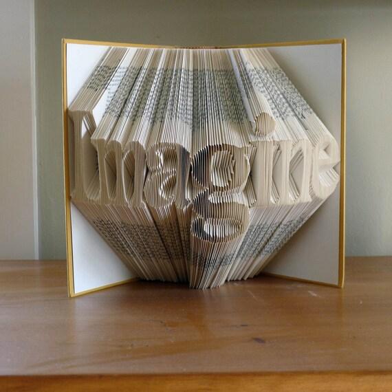 Book Art Wedding Gift : Book Art SculptureAnniversary GiftsBoyfriendUnique Wedding ...