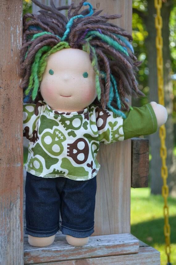 "Boy-Waldorf doll Karson 12"" by Violet & Poppies"