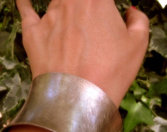 Sterling Silver Cuff Bracelet. Ethnic Bangle