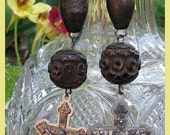 Antique Priest's Rosary Earrings