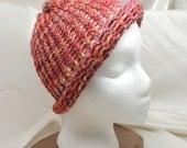 Loom Knit Corriedale Hat with Rolled Brim