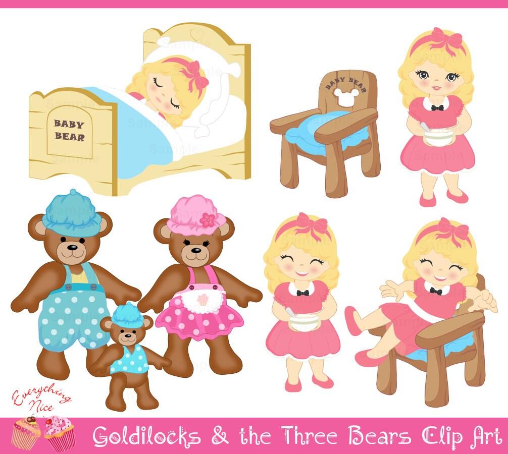Uncategorized Story Of Three Bears goldilocks and the three bears clip art set