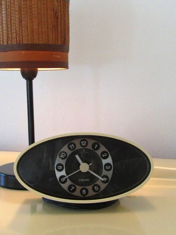 Vintage Electric Design Space Age Alarm Clock  Calor  Made in France