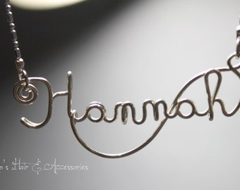 Wire art/ personalised name necklace - Hannah
