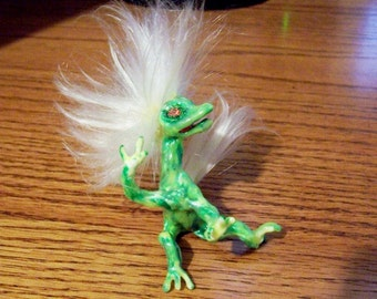 Glow in the Dark Baby Troll: Fantasy Art Doll
