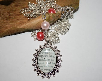 Alice in Wonderland Necklace - Alice - Gift for Her