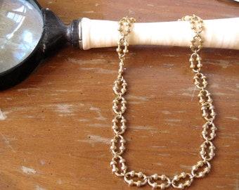 Vintage 1970's Avon Gold Link Collar Necklace