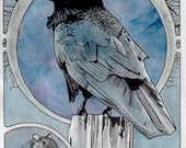 "The Raven - 11"" x 14"" archival Art Nouveau print"