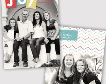 Joy Holiday Photo Card Template, Photographers, PSD, WHCC, 5x7 flat and folded, christmas photo card