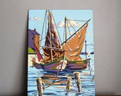 Vintage Paint By Number Sailboat