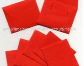 Red envelopes, mini envelopes x 45, red