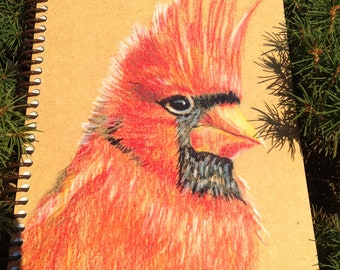 Spiral Bound Eco-friendly Cardinal Journal