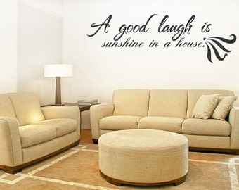 A Good Laugh Sunshine Vinyl Wall Quotes Home Sticker Decor (170)