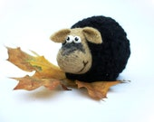 Needle Felted Toy - Little Sheep. Felt Toys. Autumn colors.Rustic