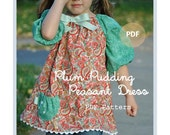 Plum Pudding Peasant Dress or Top - Baby Toddler Girls Easy PDF Dress Pattern Sizes 0-3, 3-6, 6-12, 18 months, 2, 3, 4, 5, 6, 7, 8
