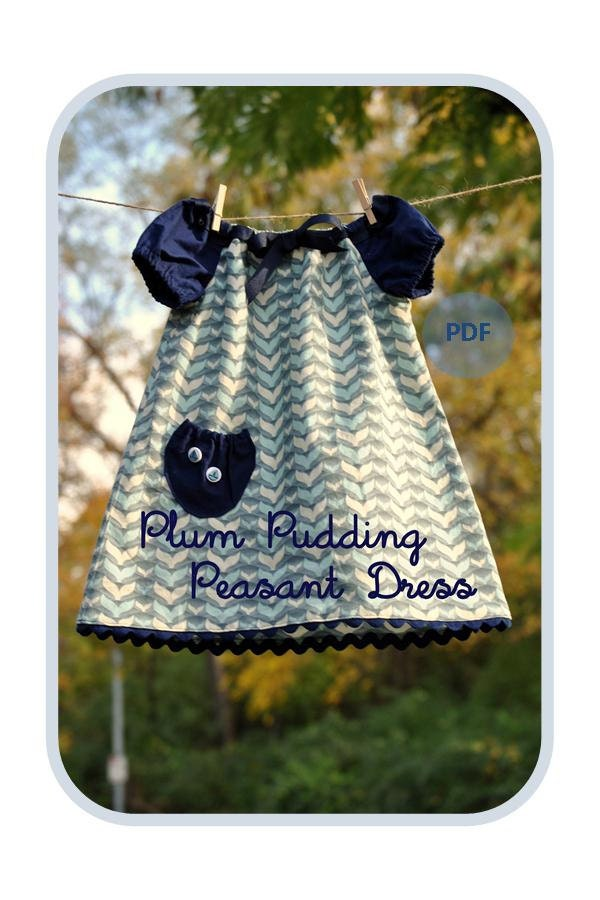 Plum Pudding Peasant Dress Or Top Baby Toddler Girls Easy