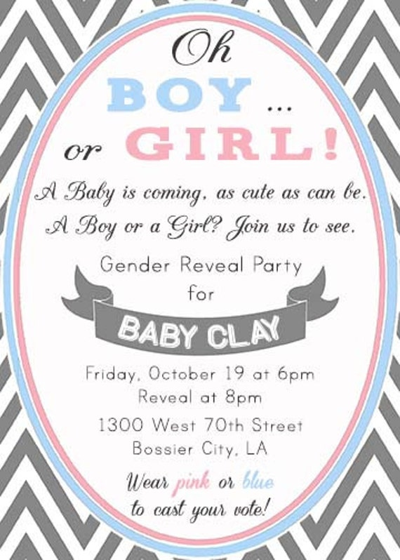 Gender Reveal Invitation Wording as luxury invitations example