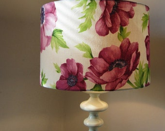 Pink Flower Drum Lampshade  - Fits UK / European Light Fitting.