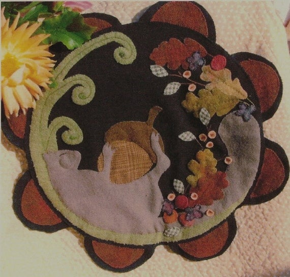 Items Similar To Autumn Nap Wool Applique Penny Rug On