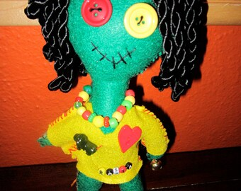 Lucky Rastafarian Voodoo Doll made to order