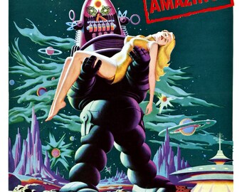 Forbidden Planet Robby the Robot Movie Theater Vintage Digitally Remastered Fine Art Print / Poster