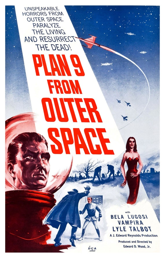 Plan 9 from outer space movie theater vintage digitally for Outer space planning and design