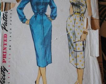 Simplicity 1654 - Dress 1956 - Size 14 Bust 32