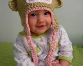 Sock Monkey Hat (WITHOUT earflaps and braids)