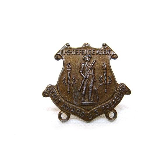 Vintage WW2 U.S. Defense Agent Badge / Pin