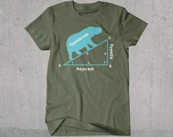 "Funny Trigonometry ""Hippotenuse"" Math T-shirt"