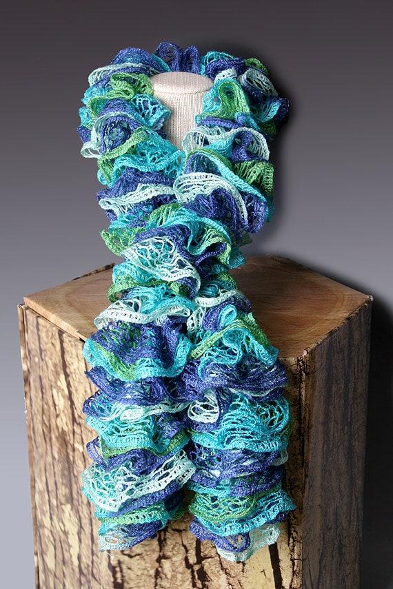 Pdf Pattern File Crocheted Ruffle Scarf By Perfectknotcrochet
