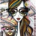 Naomi: Positive Girls with Owls Art Decor Collection