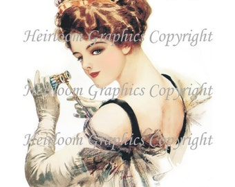 Harrison Fisher  Victorian Woman Digital Download Vintage Harrison Fisher  Victorian Woman