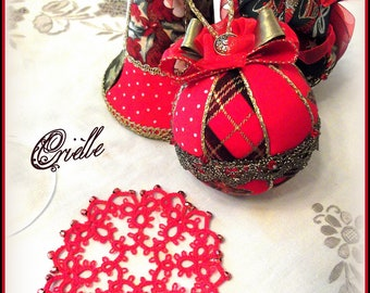 Red Coasters, Set Of Four - Red Christmas Coasters