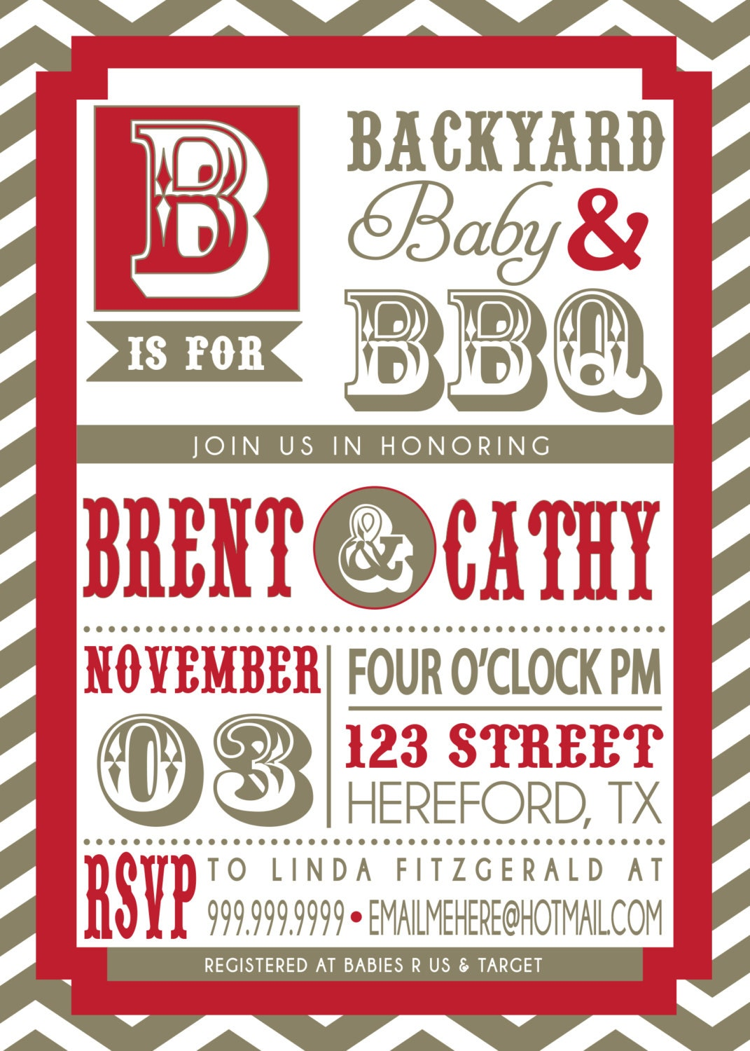 couples bbq baby shower invitation by sldesignteam on etsy